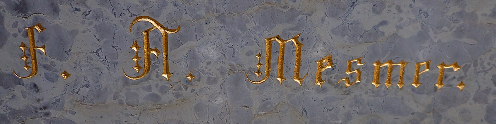 F.A. Mesmer Schriftzug - Grabmal